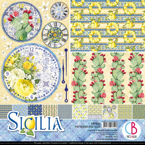 Ciao Bella Patterns Paper Pad 12x12 - CBT033 - Sicilia
