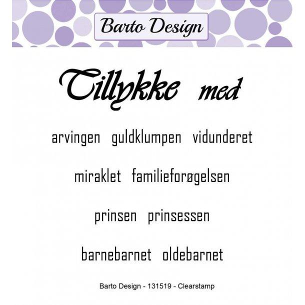 Barto Design Stempel 131519 - Tillykke
