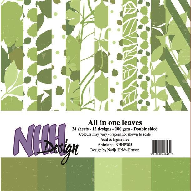 NHH Paperpad 15x15cm All in one - NHHP305 - Leaves