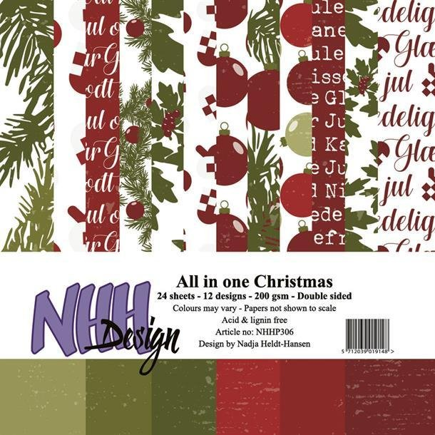 NHH Paperpad 15x15cm All in one - NHHP306 - Christmas