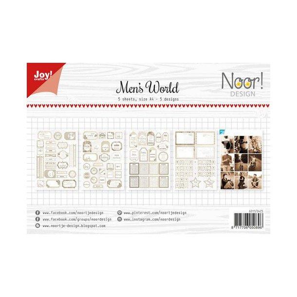 Joy Papirsblok A4 - 5 Ark - 6011/0425 - Men's World