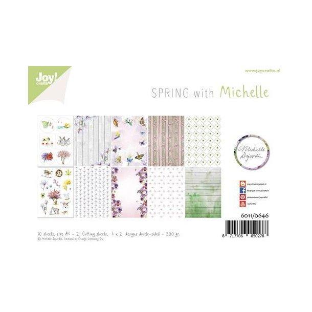 Joy Papirsblok A4 - 8 Ark dobbeltsidet + 2 klippeark ark - 6011/0646 - Spring