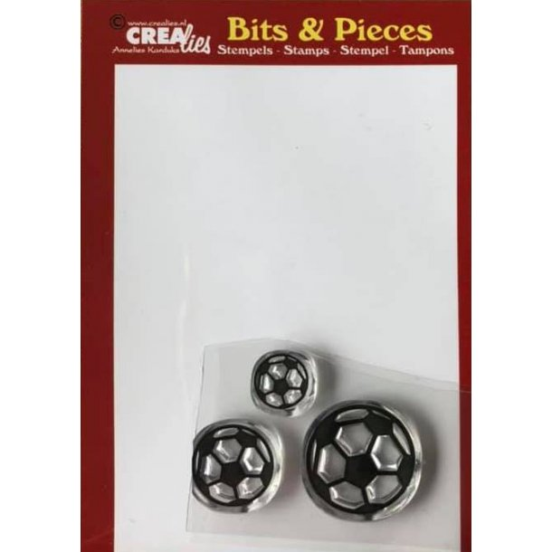 Crealies Clearstamp Bits & Pieces soccer balls CLBP161