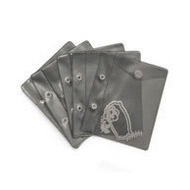 Sizzix 5 plastik lommer - 663497 -  passer til Dies mappe 663468