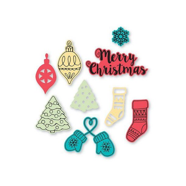 Sizzix-Thinlits Die - 663670 - Christmas Classics