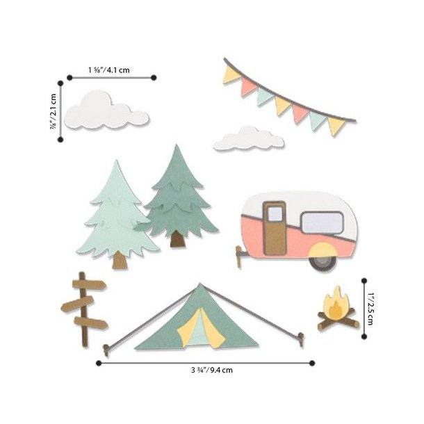 Sizzix - Thinlits Die - 663856 - Great Outdoors