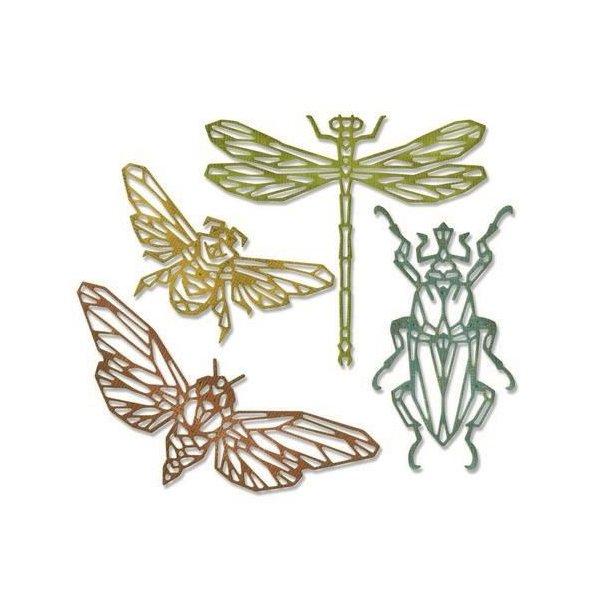 Sizzix-Tim Holtz Thinlits Die - 664180 - Geo Insects