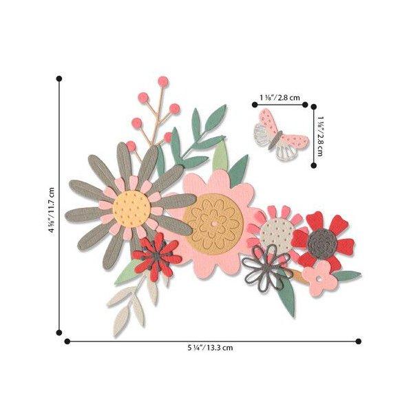 Sizzix - Thinlits Die - 664397 - Bold Flora