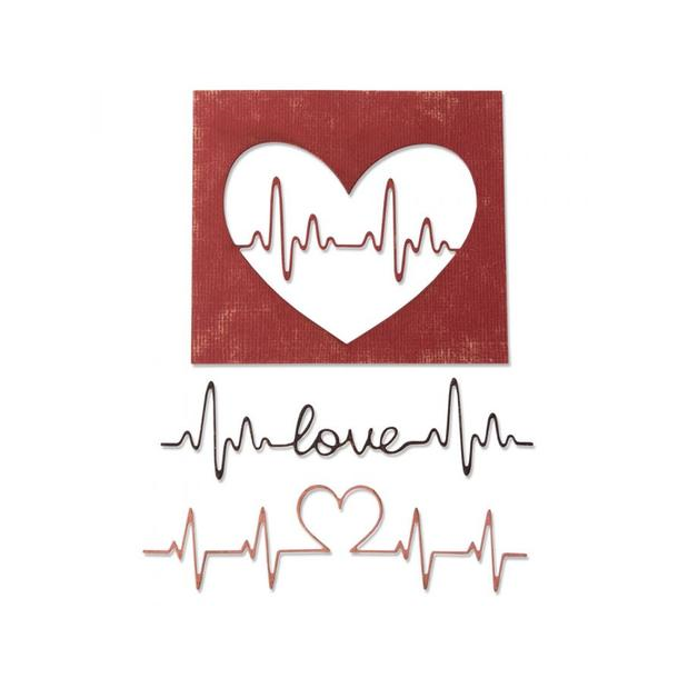 Sizzix-Tim Holtz Thinlits Die - 664416 - Heartbeat