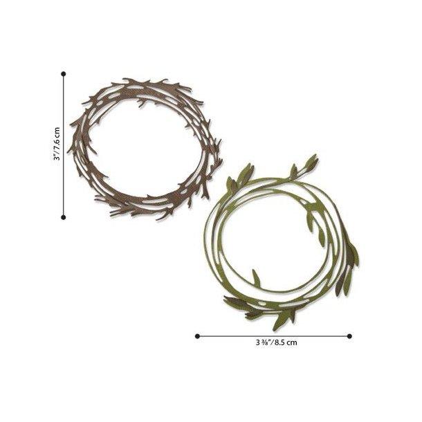 Sizzix -Tim Holtz Thinlits Die - 664434 - Funky Wreath