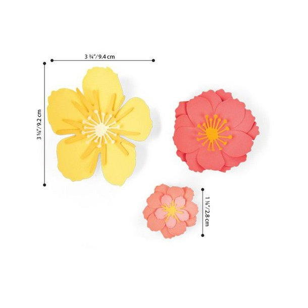 Sizzix -Thinlits Die - 664443 - Floral Blossom