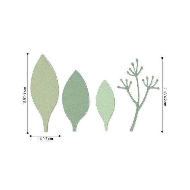 Sizzix -Thinlits Die - 664444 - Elegant Leaves