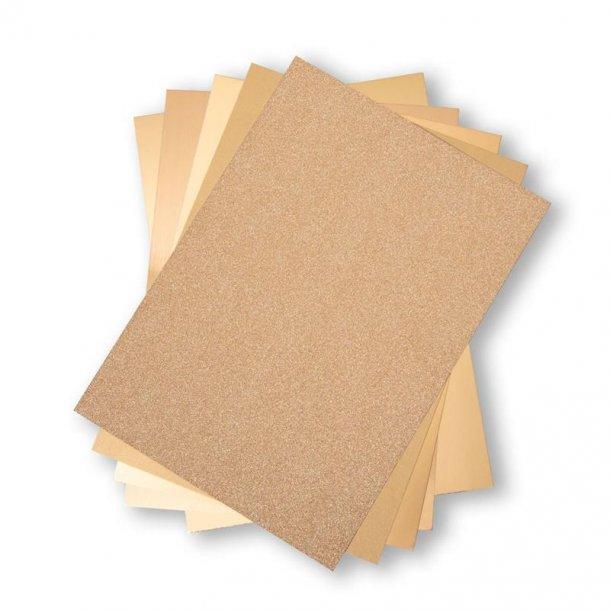 Sizzix Opulent Cardstock 50 stk A4 - 664532 - Gold