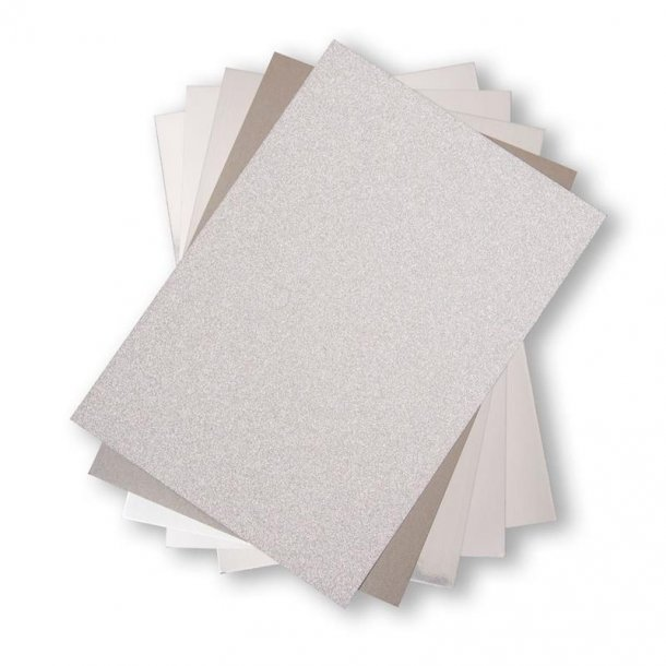 Sizzix Opulent Cardstock 50 stk A4 - 664533 - Silver