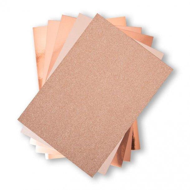 Sizzix Opulent Cardstock 50 stk A4 - 664534 - Rose