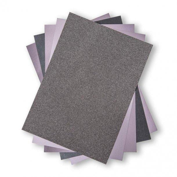 Sizzix Opulent Cardstock 50 stk A4 - 664536 - Charcoal