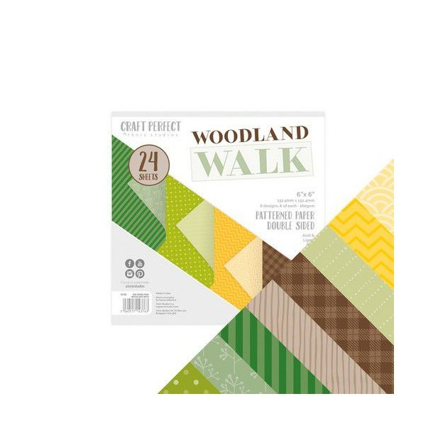 Tonic Studios Craft Perfect - 6x6 Paper Pack Woodland Walk - 9376E