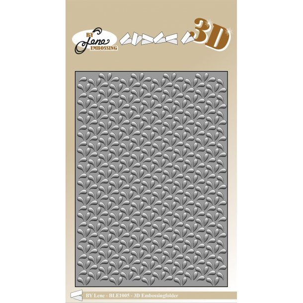 By Lene 3D Embossing Folder A6 - BLE1005 - Drops