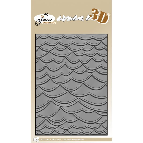 By Lene 3D Embossing Folder A6 - BLE1007 - Waves