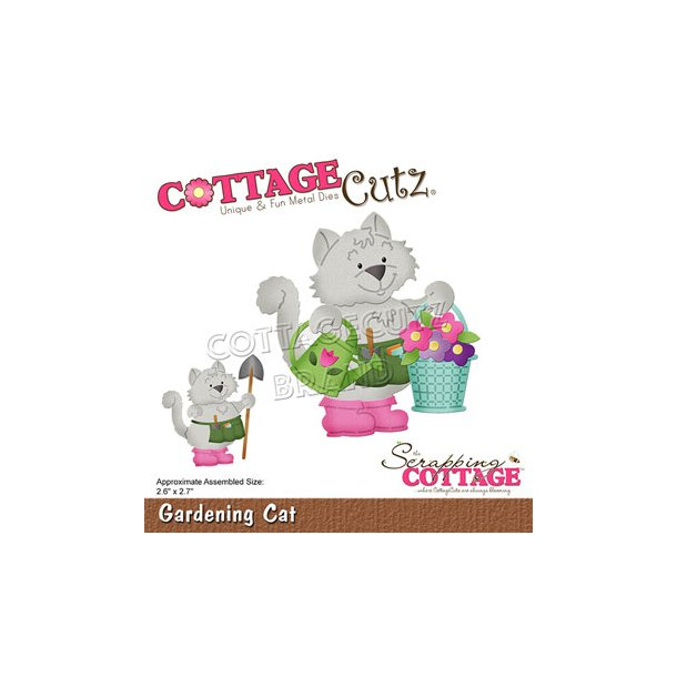 Cottage Cutz - CC-742 - Gardening Cat