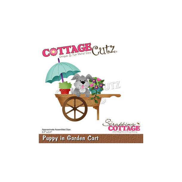 Cottage Cutz - CC-755 - Puppy in Garden Cart