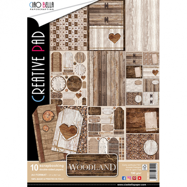 Ciao Bella Creative Pad A4 - CBC003 - Woodland