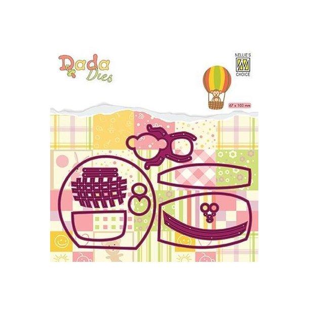 Nellie's DDD023 - Monkey in Balloon