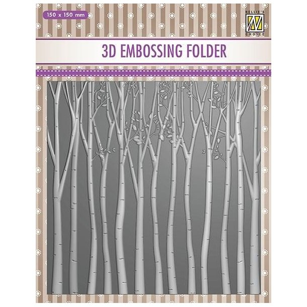 Nellie Snellen Embossing Folder EF3D013 - Trees