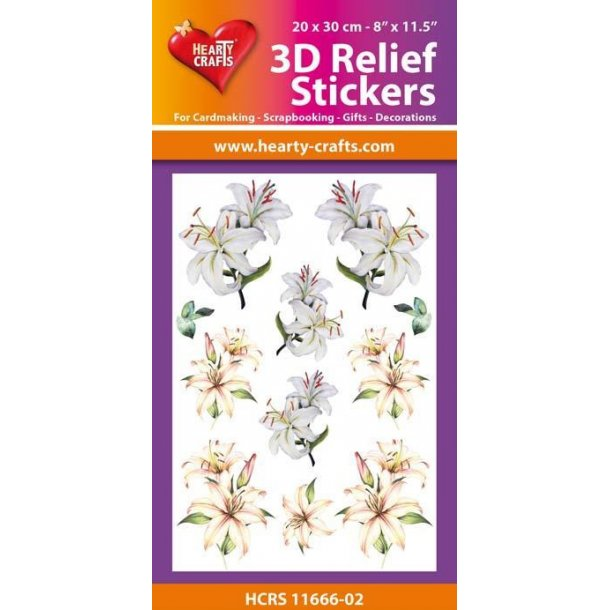 Hearty Crafts 3D Relief Stickers A4 HCRS11666-02