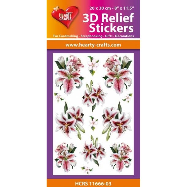 Hearty Crafts 3D Relief Stickers A4 HCRS11666-03