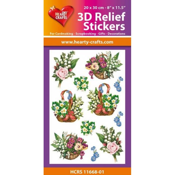 Hearty Crafts 3D Relief Stickers A4 HCRS11668-01