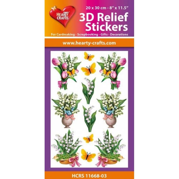 Hearty Crafts 3D Relief Stickers A4 HCRS11668-03