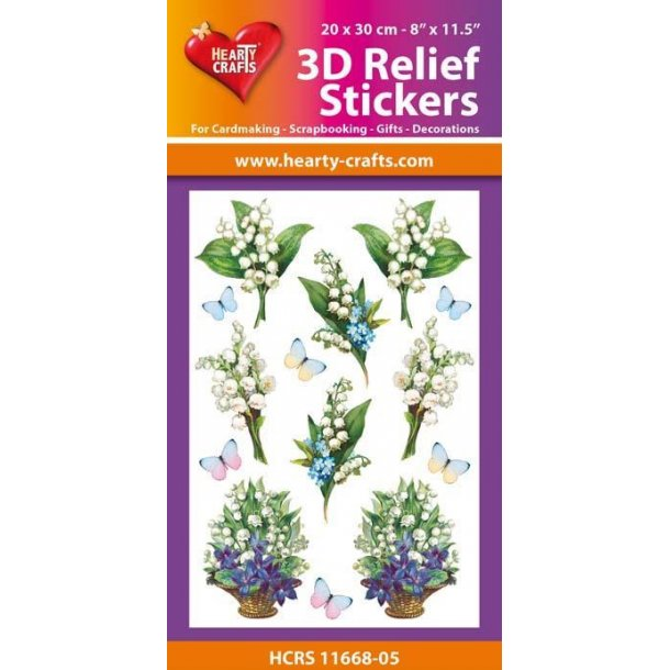 Hearty Crafts 3D Relief Stickers A4 HCRS11668-05