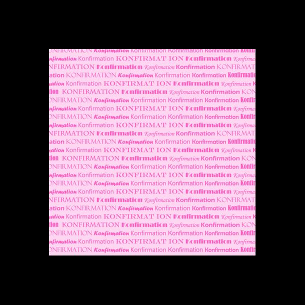 Konfirmation 2-farvede 14x28 Pink