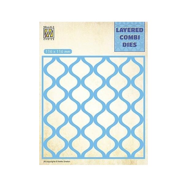 Nellie's Layered Combi Dies - Square Drops - A - LCDD001