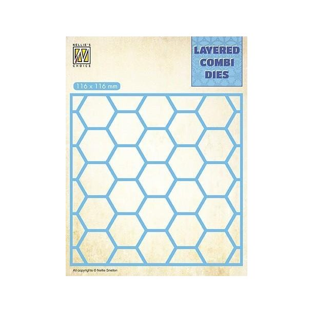Nellie's Layered Combi Dies - Honeycomb - A - LCDH001