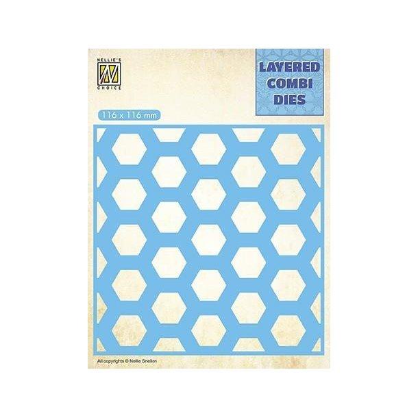Nellie's Layered Combi Dies - Honeycomb - B - LCDH002