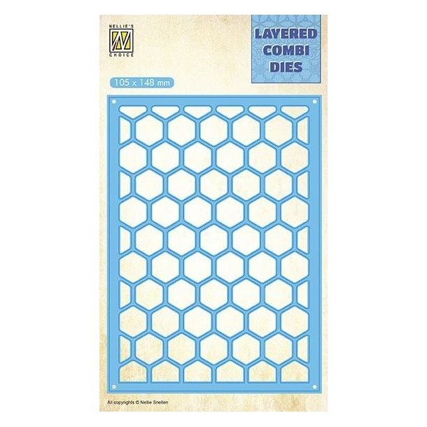 Nellie's Layered Combi Dies - Honey - A - LCDH004