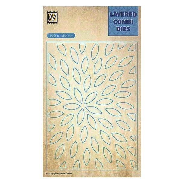 Nellie's Layered Combi Dies - Sunburst Layer - B -  LCDS002