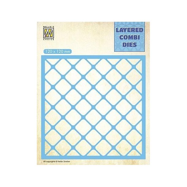 Nellie's Layered Combi Dies - Squares - A - LCDS001