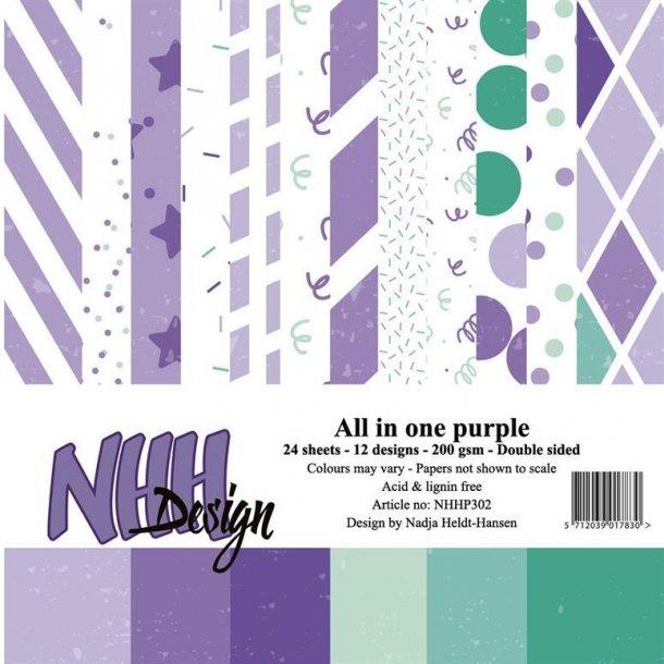 NHH Paperpad 15x15cm All in one - NHHP302 - Purple