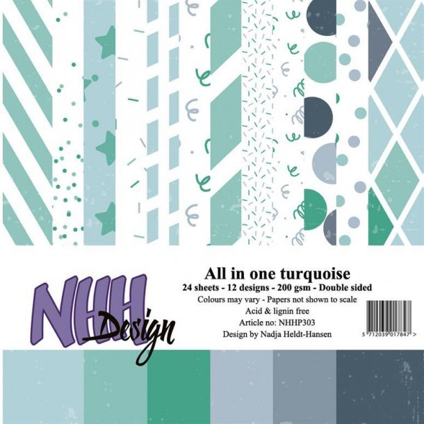 NHH Paperpad 15x15cm All in one - NHHP303 - Turqouise
