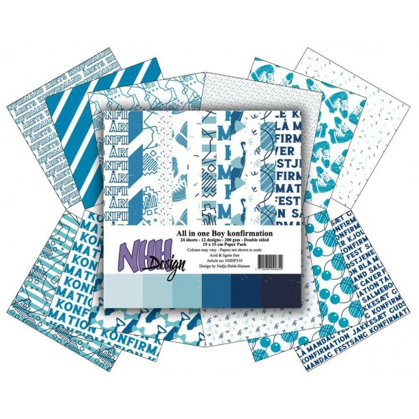 NHH Paperpad 15x15cm All in one -310 - Boy Konfirmation