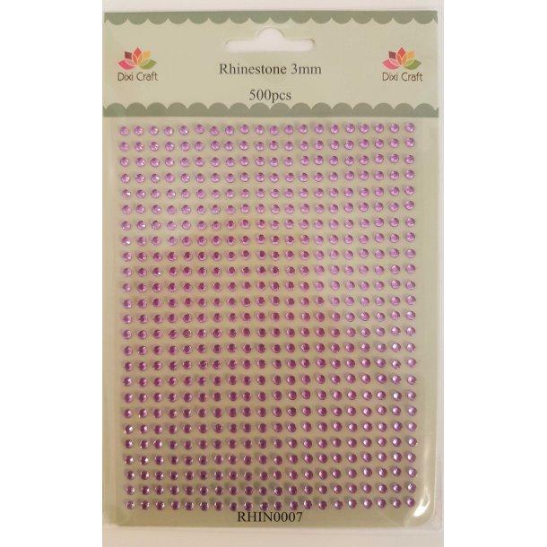 Dixi Craft Rhinsten 3mm 500stk RHIN0007 - Lys lilla