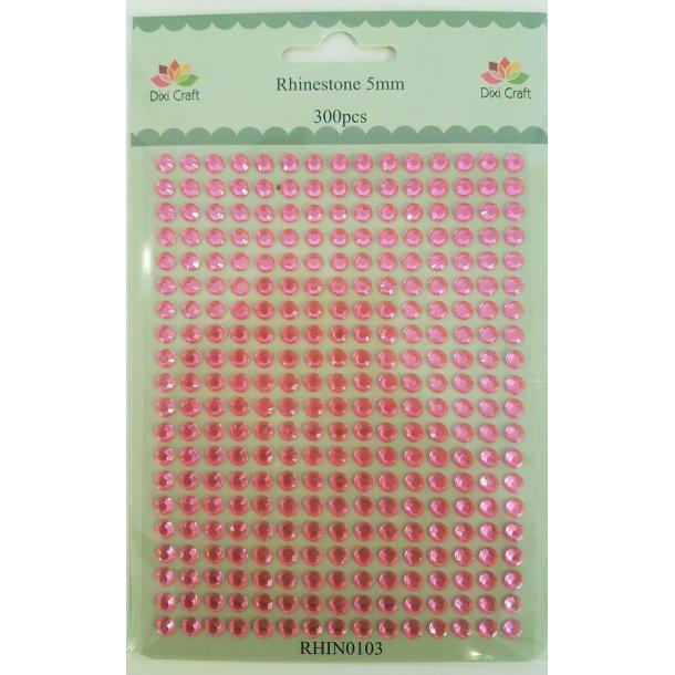 Dixi Craft Rhinsten 5mm 300stk RHIN0103 - Pink