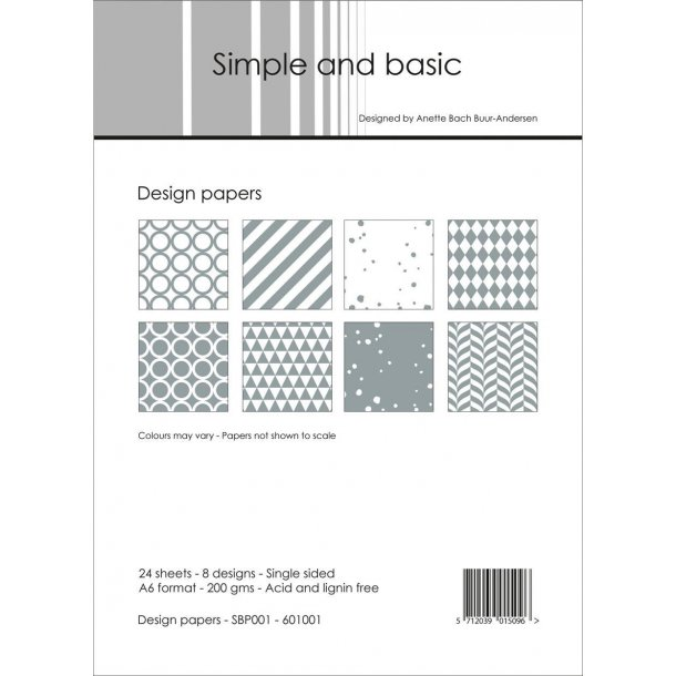 Simple and Basic Design Papers A6 - SBP001