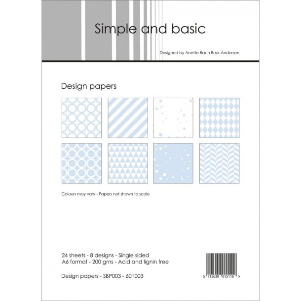 Simple and Basic Design Papers A6 - SBP003