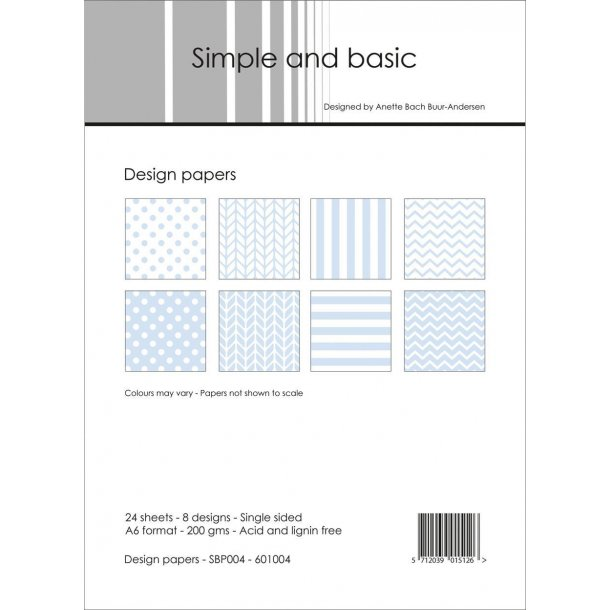 Simple and Basic Design Papers A6 - SBP004