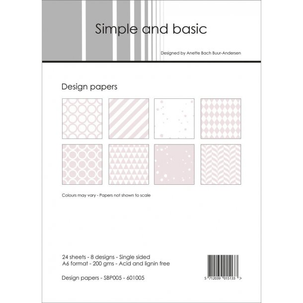 Simple and Basic Design Papers A6 - SBP005