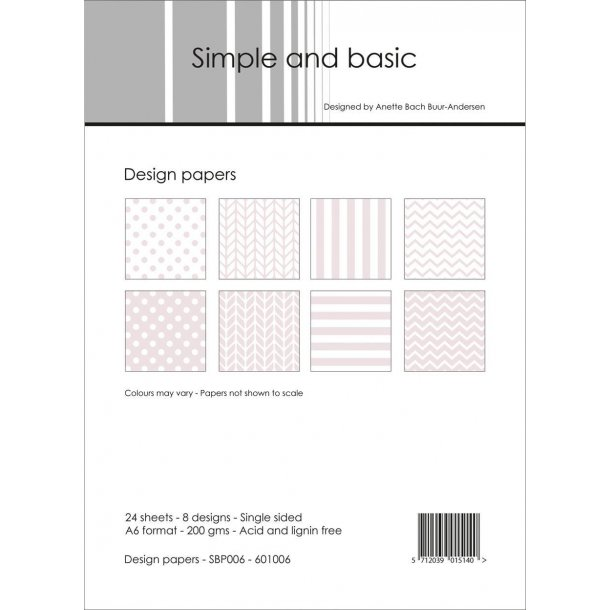 Simple and Basic Design Papers A6 - SBP006